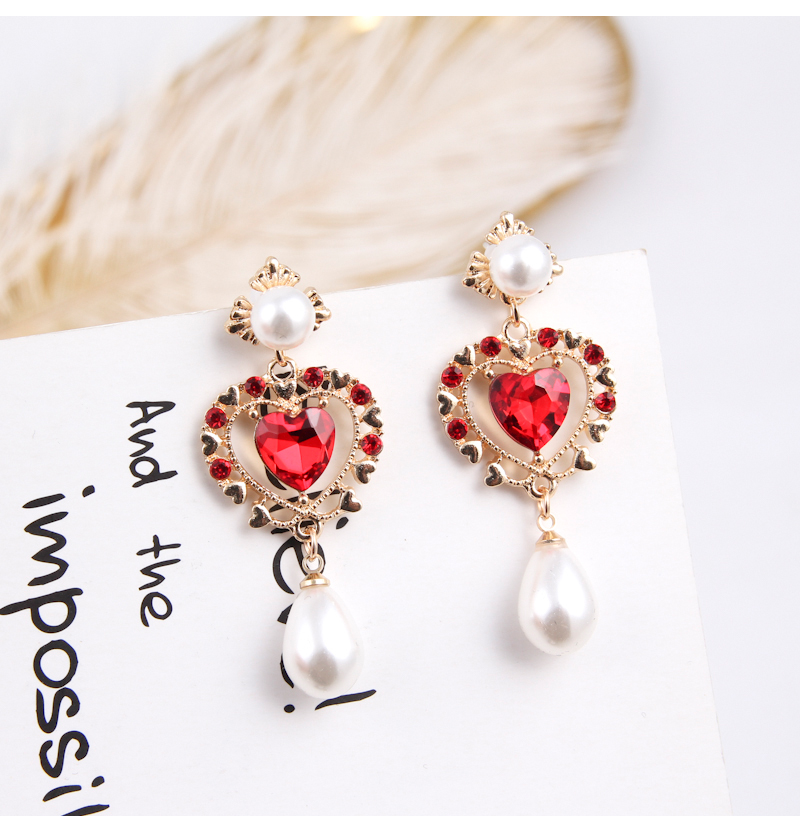 HTB1c2J9oStYBeNjSspaq6yOOFXat - 2019 New Hot Sale 20 Style Red Fashion Korean Elegant Geometric Dangle Earrings for Women Cute Pendant Mujer Jewelry