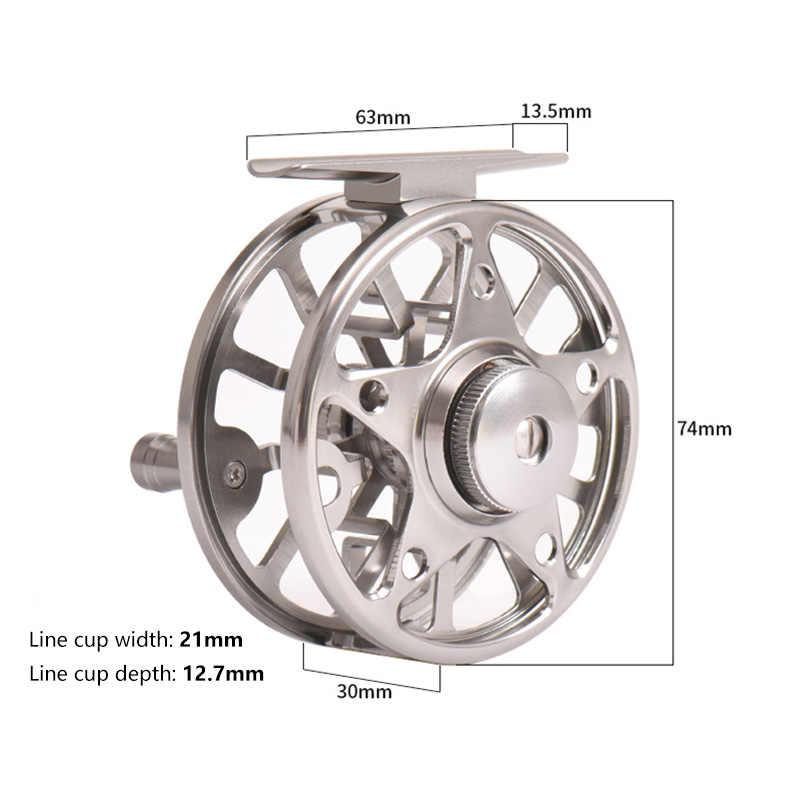 Alüminyum CNC Büyük Çardak Cazibesi Sinek Balıkçılık Reel Kesim Sol/Sağ Bobin Kalıp Döküm Sinek Makarası Tekerlek Olta takımı balıkçılık Makaraları