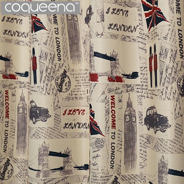 Comprar cortinas estilo londres vintage for Cortinas vintage dormitorio