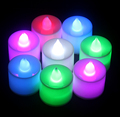 1 Unids Plástico Vela Sin Llama Partido Decoración de La Boda 2016 Led 5 Colores LED de Luz Nocturna Romántica Vela Electrónica # KF