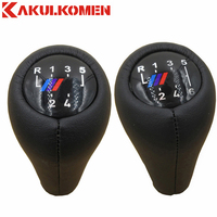 Real Leather 5 6 Speed Manual Gear Shift Knob Handle Knob For BMW 1 3 5