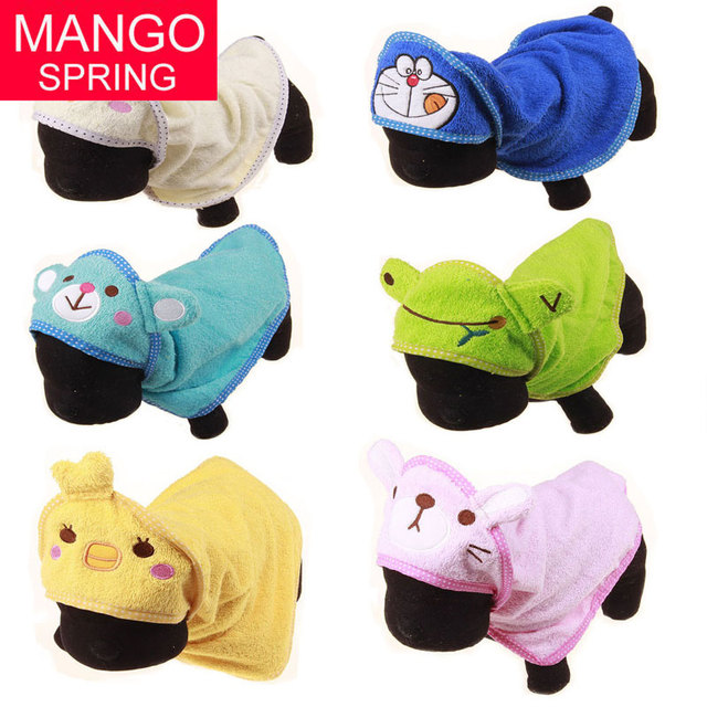 3 Size Cartoon Animal Hooded Dog Cat Cleaning Necessary Pet Drying Towel Super Absorbent Bathrobes Dog Bath Towel Pet Supplies