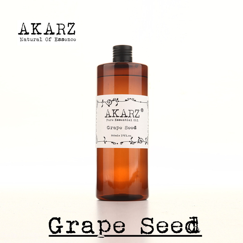 AKARZ Famous brand pure grape seed oil natural aromatherapy high-capacity skin body care massage spa grape seed essential oil handmade soap raw material natural grapeseed essential oil organic cold pressure grape seed aromatherapy moisturizing 1000ml