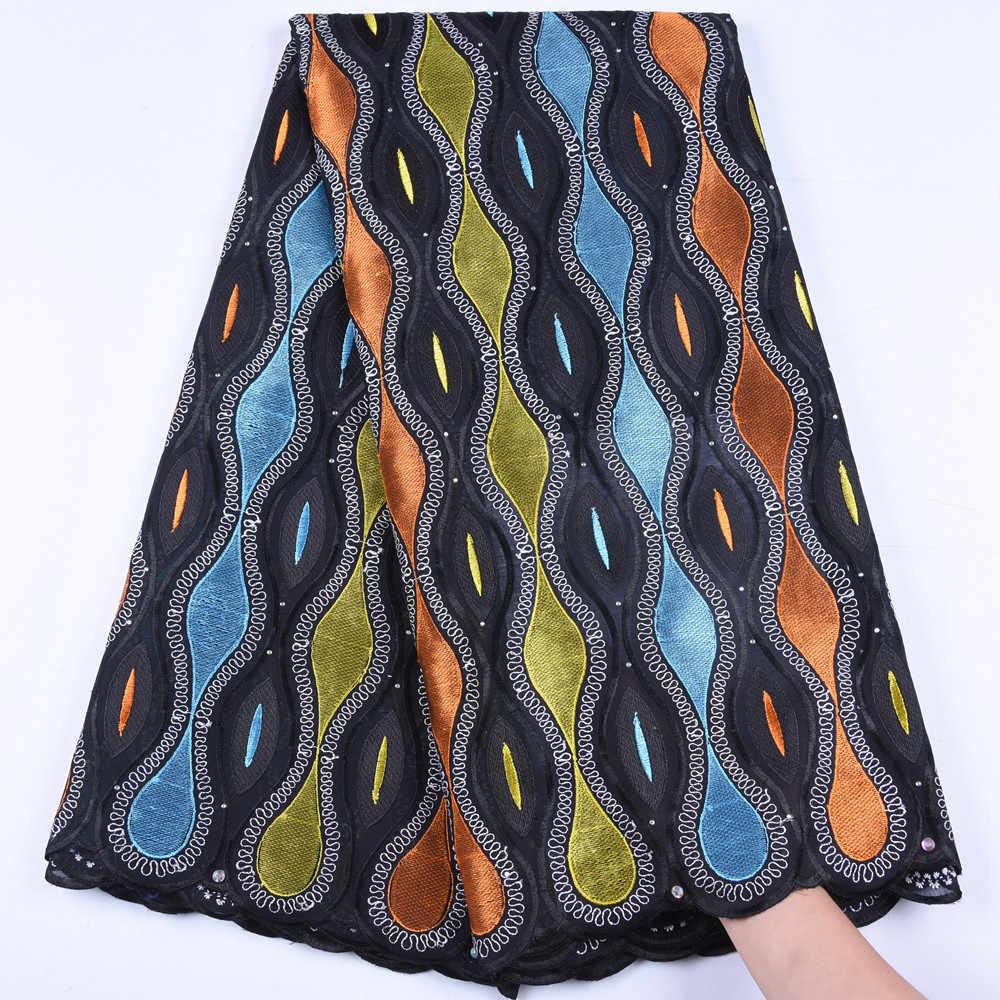 Топ швейцарская вуаль кружева в швейцарском стиле с африканскими камнями сухое кружево высокого качества нигерийская кружевная ткань для женщин шитье A1665
