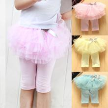 Kids Baby Girls Skirts Summer Skirt Leggings Gauze Pants Party Skirts Bow Candy Tutu