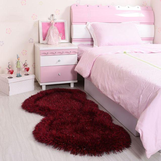 heart shaped carpet children's room bedroom floor mats bedside rug