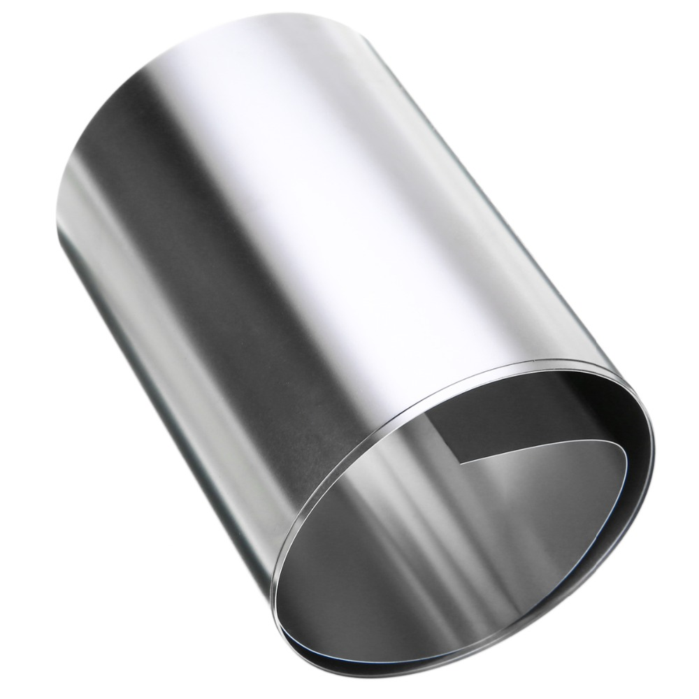 Image 2 - 1pc 0.2mm Thickness Silver 304 Stainless Steel Fine Plate Sheet Foil 100mmx1m For Electronic Equipment-in Tool Parts from Tools