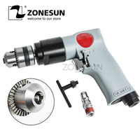 ZONESUN RP7101 3/8 Reversible Pneumatic Power Drill Air Driller Tool Air Drilling Tool wind grinding tapping tool