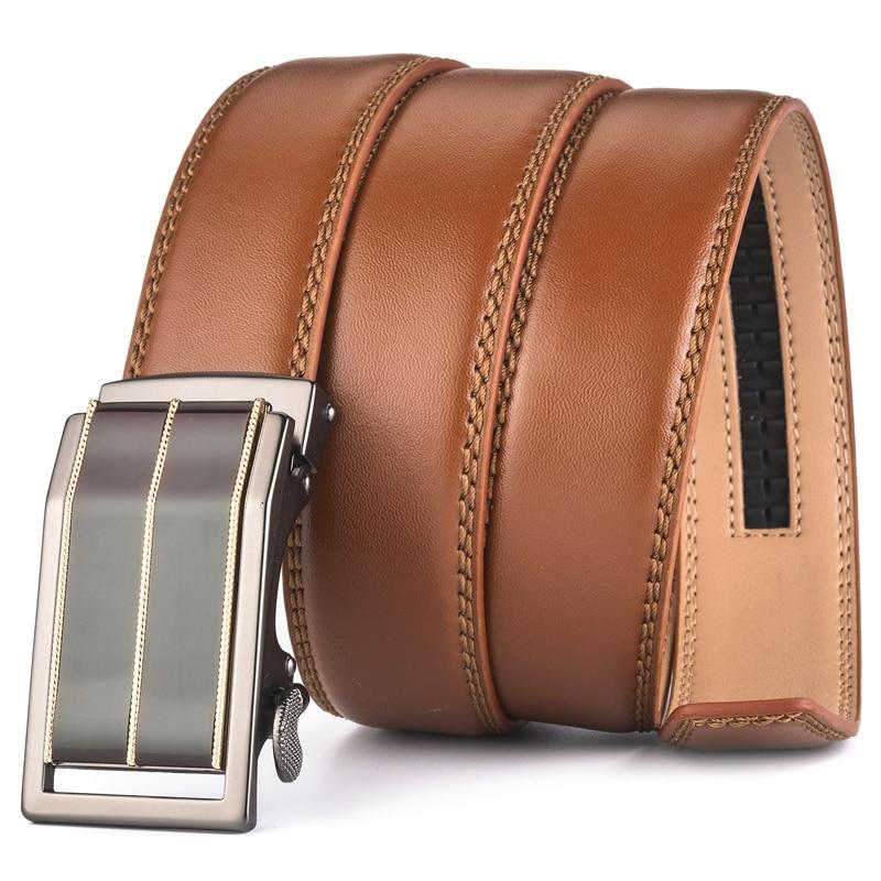 Plyesxale automático hebilla Cinturón marrón de 2018 para hombres ... 5717cd1e3e6e