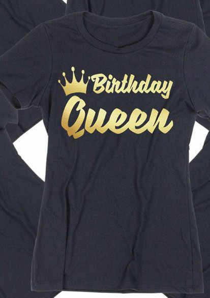bf190d8b8 ... Women Tops Birthday TSHIRT Birthday QUEEN SQUAD Lady Tee Shirt Birthday  Party ALL COLORS ...