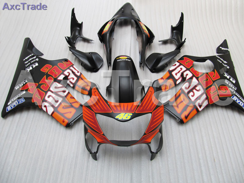 Black Moto Fairing Kit For Honda CBR600RR CBR600 CBR 600 F4 1999 2000 99 00 Fairings Custom Made Motorcycle Injection Molding gray moto fairing kit for honda cbr600rr cbr600 cbr 600 f4i 2001 2003 01 02 03 fairings custom made motorcycle injection molding