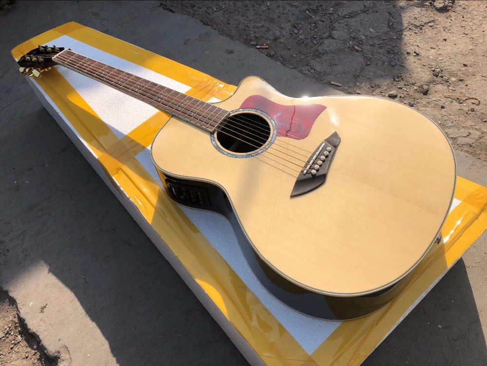 free shipping Byron guitars top quality 2018 new customize single cut solid acoustic electric guitar free shipping new single wave electric guitar wilkinson bridge wvcsb in gold 8351
