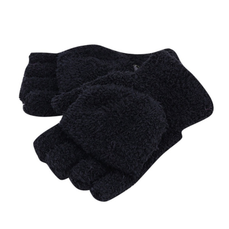 New Men Women Gloves Winter Warm Half Finger Flip Knitted Mittens Glove Hot Sale 6 Colors
