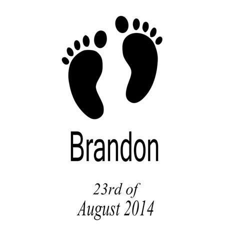 Aliexpress.com : Buy Babies Birth Date Feet Personalised