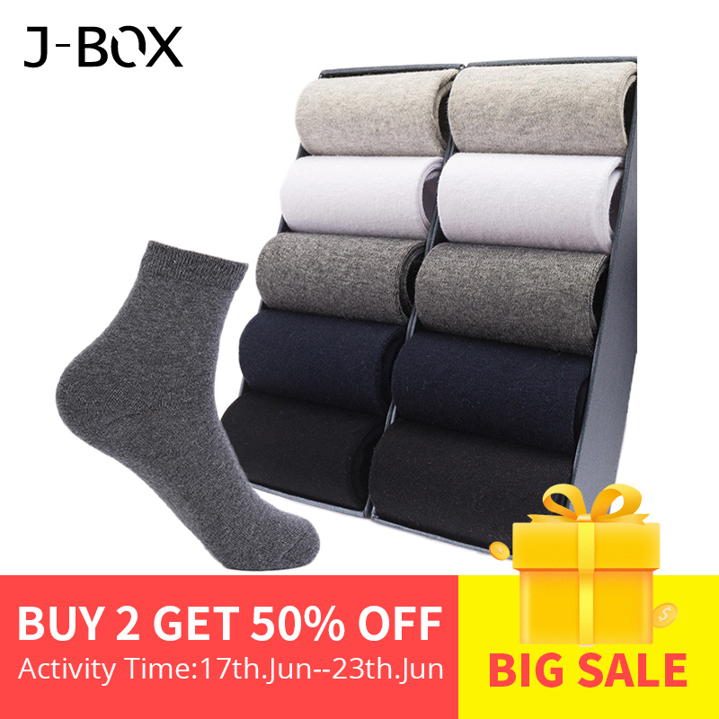 Casual Men's Business   Socks   For Men Cotton Brand Crew Black White Gray Long Male   Socks   2019 New Warm Autumn Winter 1 5 10 pairs