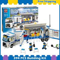 394pcs City Police Mobile Police Unit New 10420 Building Blocks Action Figures Model Boys Girls Kids Sets Compatible With lego