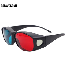 Wholesale 3D Sunglasses For Women Men TV Film Movie Glasses Oculos De Sol Gafas De Sol Red With Blue lunette de soleil D8