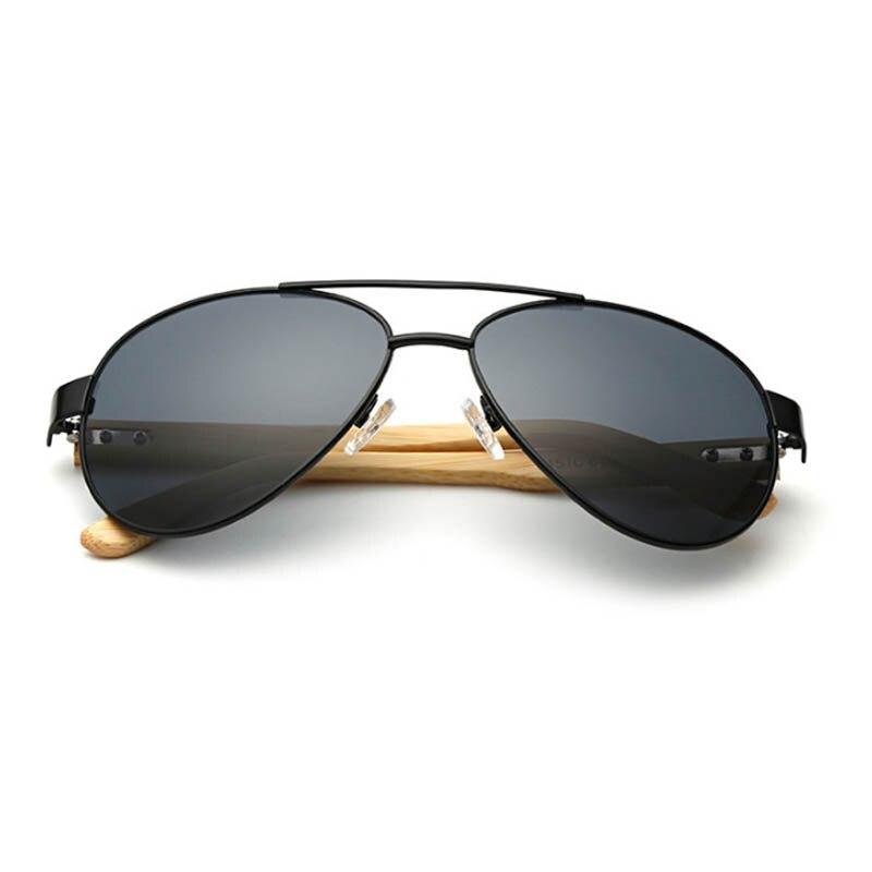 Vintage Pilote lunettes de Soleil En Bois Hommes Femmes Double Pont Lunettes  De Soleil Bois Lunettes 004a54fbc35e