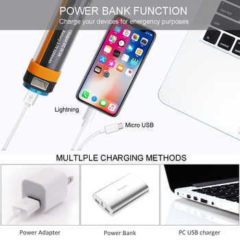 Camping light Outdoor Camping Flashlight IP68 Waterproof Rechargeable Battery Powerbank SOS Emergency Portable Led Light 6 mode#