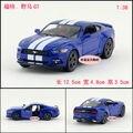 Подарок для ребенка 1:38 12.5 см Kinsmart Ford Mustang GT полосы сплава крутой автомобиль вытяните назад сплава модель игрушка мальчика
