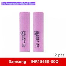 2pcs 3.7V 18650 3000mah 15A 방전 삼성 INR18650 30Q 리튬 이온 전원 셀 IMR 배터리 장난감 전자 cig 토치 손전등 요법
