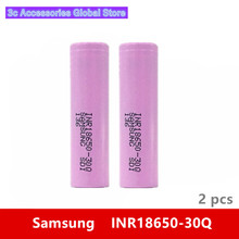 2pcs 3.7V 18650 3000mah 15A discharge For Samsung INR18650 30Q li ion power cell IMR battery for Toy E cig Torch Flashlight ect