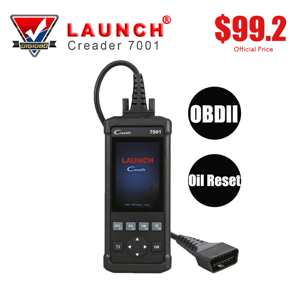 LAUNCH CReader 7001 CR7001 Car Diagnostic Tool Code Reader Auto Full OBDII/EOBD Diagnostic Function with Oil Reset Scanner 2016 new arrival vs 890 obd2 car scanner scantool obdii code reader tester diagnostic tools 3 inch lcd car detector
