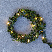 Outdoor Led Leaf Twine Fairy String Lights With Battery Operate For Rustic Wedding Holiday Party Event Decoration(China)