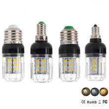 Led bulb E27 E14 E12 E26 5730SMD 110V 220V DC 12V 24V 27LEDs 7W Led Corn Lamp Christmas Chandelier Candle Lighting