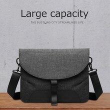 Gli uomini di Tela Staccabile Messenger Borse di Alta Qualità del Sacchetto di Spalla Impermeabile + Valigetta Per Viaggi Daffari Crossbody Bag