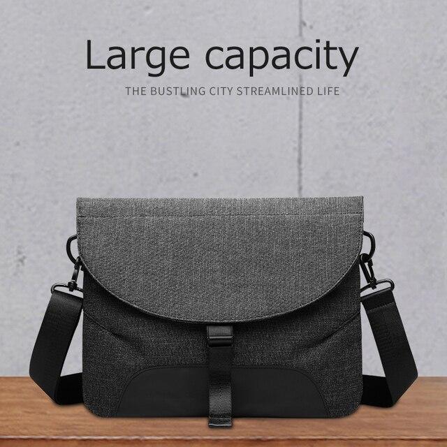 Sac à bandoulière en toile pour hommes, sac à bandoulière étanche + mallette pour voyage daffaires, sacoche de bonne qualité