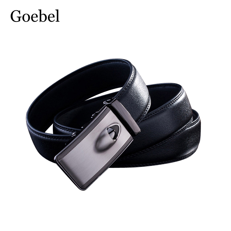 Goebel Man's Belt Fashion PU Leather Automatic Buckle Luxury Leather Belt Men Casual Popular Brand Belt Men men automatic buckle real cowhide cross double stitched leather belt