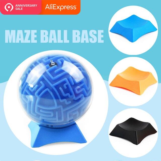 1 pieza juguete soporte pantalla titular Rack Base de apoyo para deporte bola laberinto bola rompecabezas de juguete 3D bola laberinto 7,2x7,2x2,7 cm