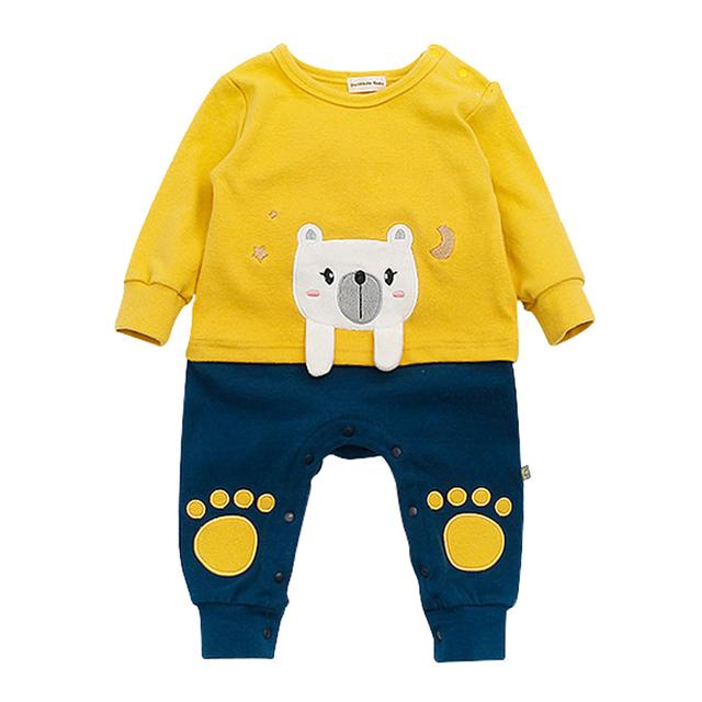 2017 Mamelucos Del Bebé de Algodón de Manga Larga 0-24 M Ropa de Bebé Monos de Ropa de Bebé Recién Nacido ropa Del Mameluco Ropa Bebes Mono