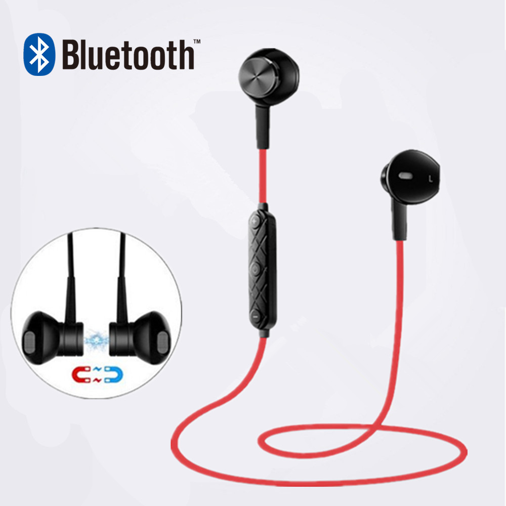 i8 <font><b>Magnet</b></font> Metal Bluetooth earphone Wireless headphones for sport Earbuds with microphone headset stereo headphone for iphone se