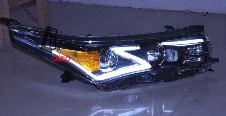 car styling Bi-xenon Projector Headlight with Angle Eye For Toyota Corolla 2014-2015 head lamp