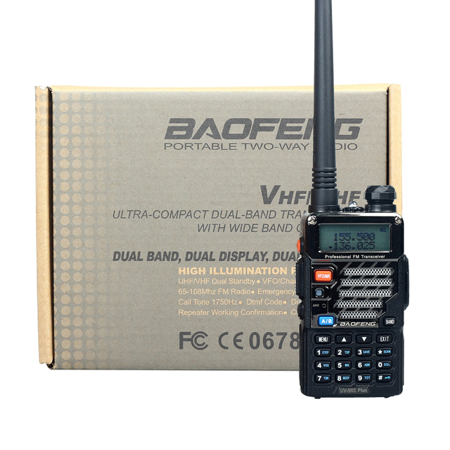Walkie Talkie Baofeng UV-5RE Plus Dual Band Two Way Radio Pofung UV 5RE FM VOX Dual Display radio comunicador 5W 128CH UHF VHF