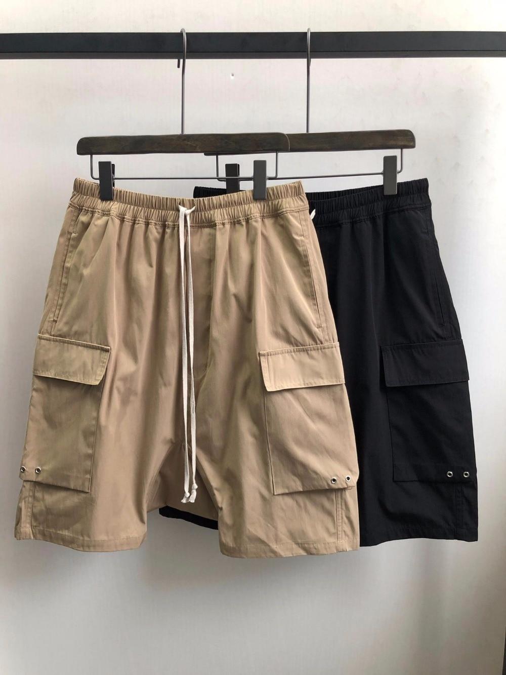 Erkek Kıyafeti'ten Şortlar'de Owen Seak Erkek Şort Harem Kısa % 100% Pamuk Gotik erkek giyim Sweatpants Yaz Hafif Kadınlar Katı Gevşek Kısa Boyutu XL'da  Grup 1