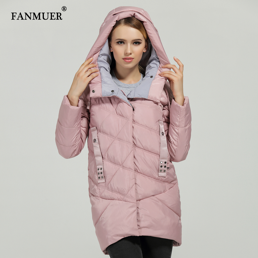 Fanmuer New 2017 Hot Sale Winter Womens Bio Down Thickening Jacket And Coat For Women High Quality Parka - 2