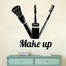 Art  Wall Sticker Make Up Decoration Beauty Salon Poster Cosmetics Modern Decal Fashion Girls Room LY261