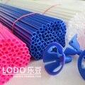100 peças/lote Espessamento Plástico Pólo Balão de Látex e balões Folha Haste Elevador Longo 40 cm Rosa Azul Branco scolha