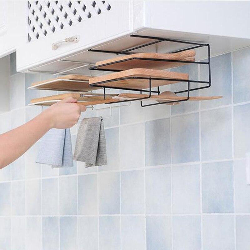 Organización de almacenamiento de cocina platos estantes de hierro plato estante soporte hogar cocina organizador accesorios toalleros gancho tablero