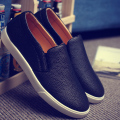 men's Casual leather shoes springtime new  Korean fashion style round head Comfortable flat shoes for lazy 3 colors available