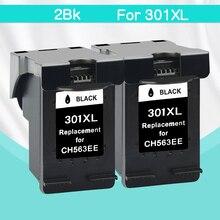 CMYK SUPPLIES 2bk replacement for hp301 hp 301 xl DeskJet Deskjet 1000 1050 1510 2000 2050 2050S 2510 2540 3050a 3054 printer
