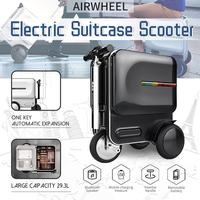 New Designe 29.3L Travel Carry Business Electric Scooter Luggage Aluminum Suitcase With Wheels Skateboard Rolling Trolley Case