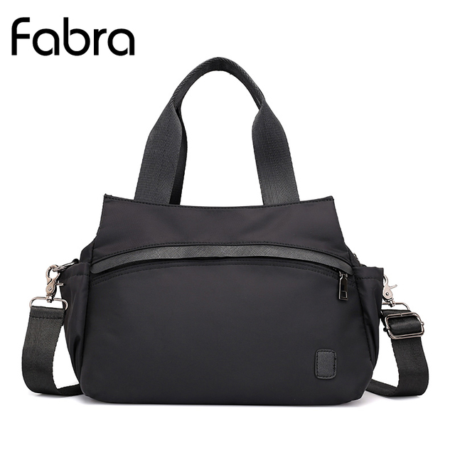 886df1f4798d Fabra Women Nylon Handbag Waterproof Shopping Messenger Bag Women Shoulder  Bag Ladies Casual Lightweight Hobo Tote