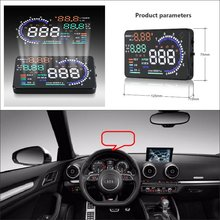 цены For Audi Q5 Q7 2015 2016 Car Head Up Display Saft Driving Screen Projector - Refkecting Windshield