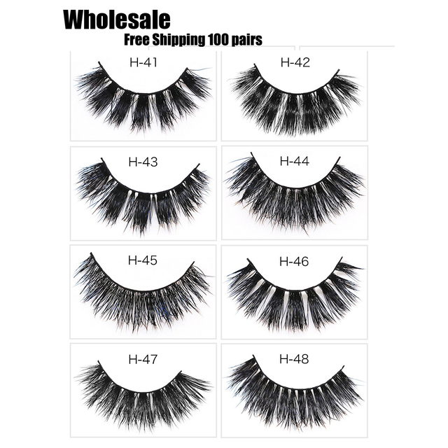 a0d46c7ecbb Free Shipping 100 pairs Lash Mink Eyelashes 3D Mink Hair Lashes Wholesale  100% Real Mink Fur Handmade Crossing Lashes Thick Lash
