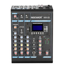 Neewer Mixer Stereo 5 Canali Compatto Mini Mixing Console Echo Effetti DSP Display LCD Schermo Built-In SD card/USB /MP3(China)