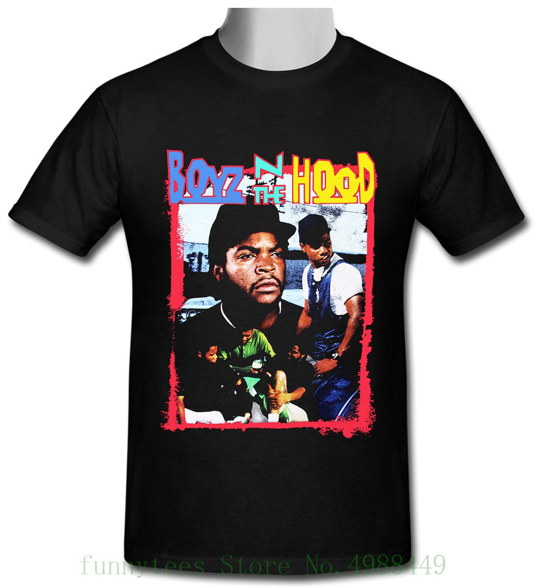 Boyz N The Hood Vintage Ice Cube Black T Shirt Size S To 2xl Classic Cotton Loose Round Collar Short Sleeve